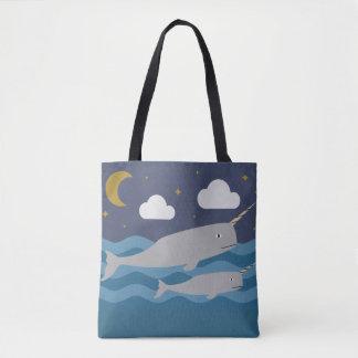 Narwhal NachtSchwimmen Tasche