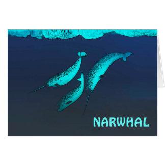 Narwhal unter dem Eis Karte