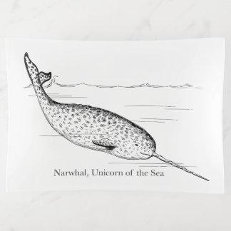 Narwhal Wal-Einhorn des Meeres Dekoschale