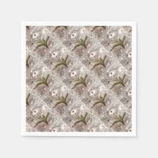 Narzisse auf Marmor Papierservietten