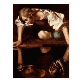 Narzisse durch Caravaggio Postkarte