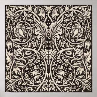 Narzissen-Blumenmuster Williams Morris Vintag Poster