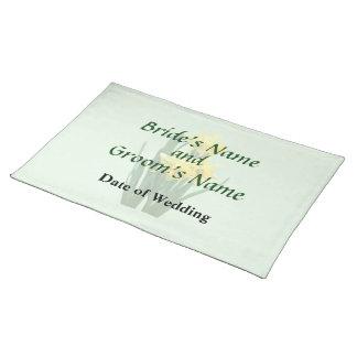 Narzissen hoch und kurze Hochzeits-Produkte Tischset