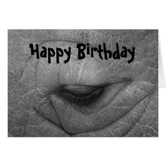 Nashorn, alles Gute zum Geburtstag Karte