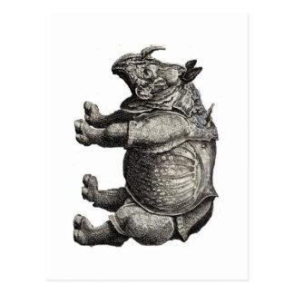 NASHORN - Bild 1600's - Postkarte