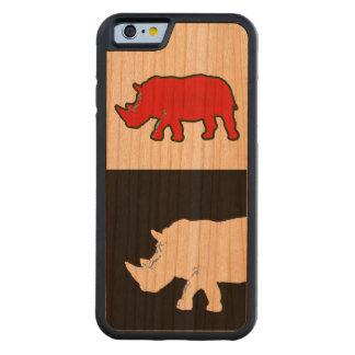 Nashorn cool u. modern bumper iPhone 6 hülle kirsche