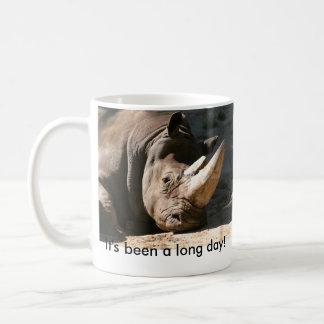 Nashorn ist es ein langer Tag gewesen! Linkshändig Kaffeetasse