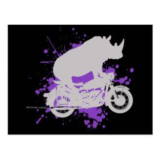 Nashorn-Radfahrer Postkarte