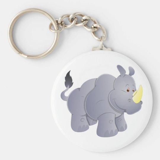 Nashorn rhino rhinoceros schlüsselanhänger
