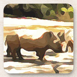 Nashorn von der Safari Untersetzer