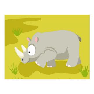 Nashorn von meinem Welttiere serie Postkarte
