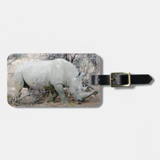 Nashorn von Südafrika Gepäckanhänger
