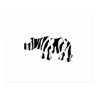Nashorn Zebra: Wilder Brei-Oben Postkarte