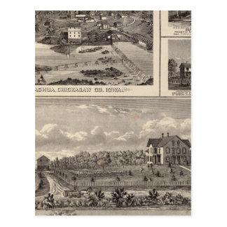 Nashuabauernhof und -wohnsitz postkarte