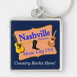 Nashville-Andenkenschlüsselkette Schlüsselanhänger