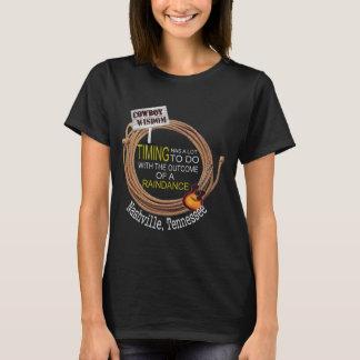 Nashville-Cowboy-Klugheit Raindance grundlegender T-Shirt