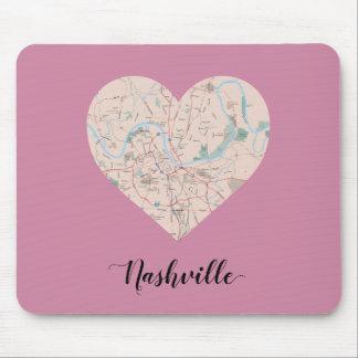 Nashville-Herz-Karte Mousepad
