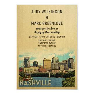 Nashville-Hochzeits-Einladung Tennessee Karte
