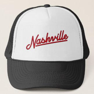 Nashville im Rot Truckerkappe