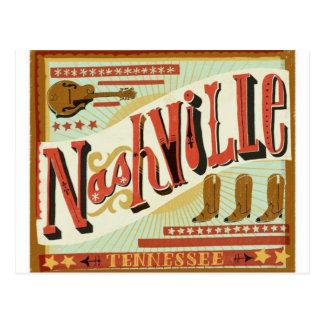 Nashville, Land-Thema Postkarte
