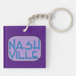 Nashville lila schlüsselanhänger