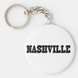 Nashville-Schwarz-Block Schlüsselanhänger