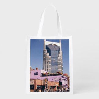 Nashvillebatman-Iconic Gebäude Wiederverwendbare Einkaufstasche