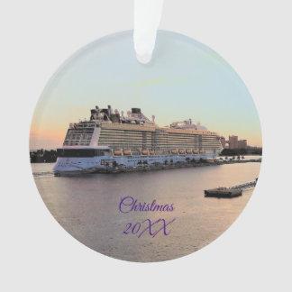 Nassau-Hafen mit Kreuzfahrt-Schiffs-datiertem Ornament