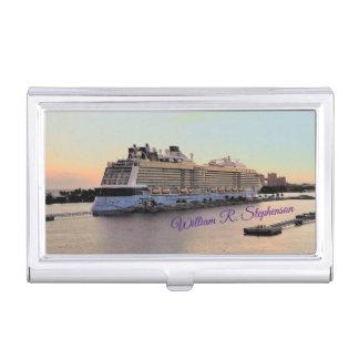 Nassau-Tagesanbruch mit dem Kreuzfahrt-Schiff Visitenkarten Etui