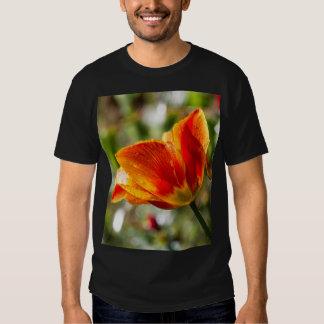 Nasse orange und gelbe Tulpe Hemd