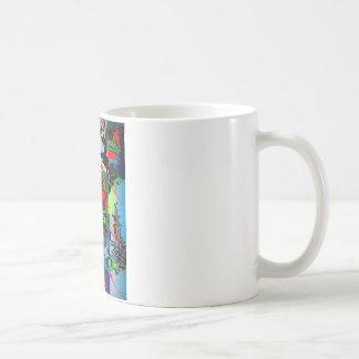 nasse Plasterungsreflexionen Kaffeetasse