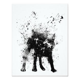 nasser Hund 10,8 X 14 Cm Einladungskarte