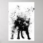 nasser Hund Plakat