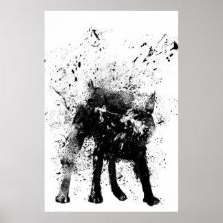 nasser Hund Poster