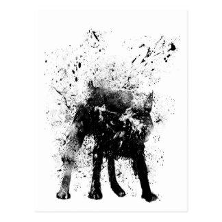 nasser Hund Postkarte
