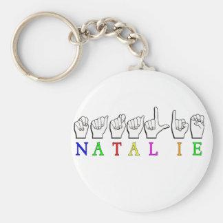 NATALIE ASL FINGERSPELLED NAMENSzeichen Schlüsselanhänger