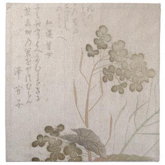 Natane Blume - japanischer Ursprung - Edo-Zeitraum Serviette