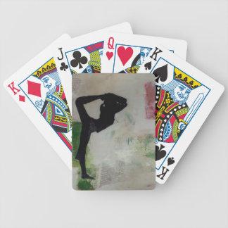 Natarajasana Yoga-Mädchen - Poker-Spielkarten Bicycle Spielkarten
