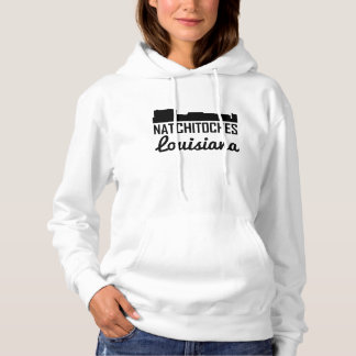 Natchitoches Louisiana Skyline Hoodie