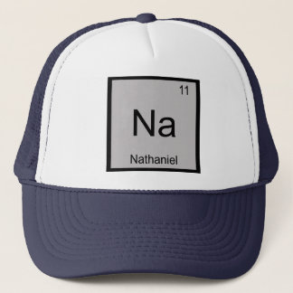 Nathaniel Namenschemie-Element-Periodensystem Truckerkappe