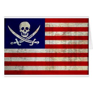 Nation Pirat Grußkarte