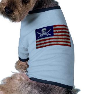Nation Pirat Hund T Shirt