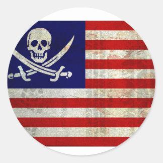 Nation Pirat Runde Aufkleber