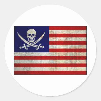 Nation Pirat Runder Aufkleber
