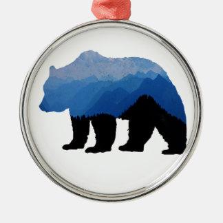 National_Park_bear Silbernes Ornament