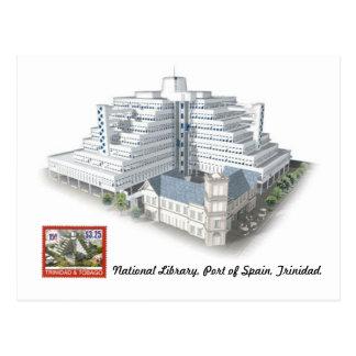 Nationalbibliothek, Port-of-Spain, Trinidad Postkarte