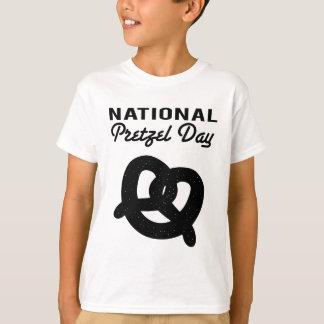 Nationale Brezel-Tages(schwarze) T - Shirts