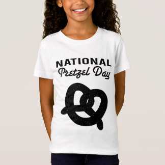 Nationale Brezel-Tages(schwarze) T - Shirts