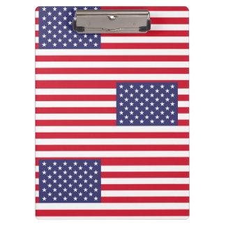 Nationale Flagge des USA Klemmbrett