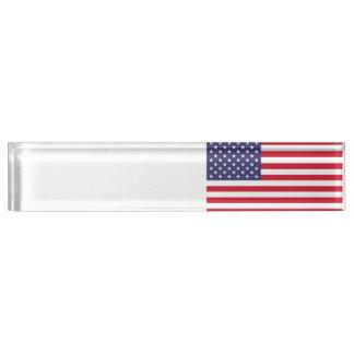 Nationale Flagge des USA Schreibtischplakette
